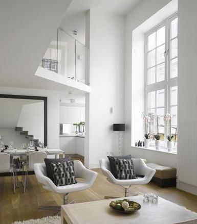 Sleek Apartment Interior Design Double Height Open Style Home
