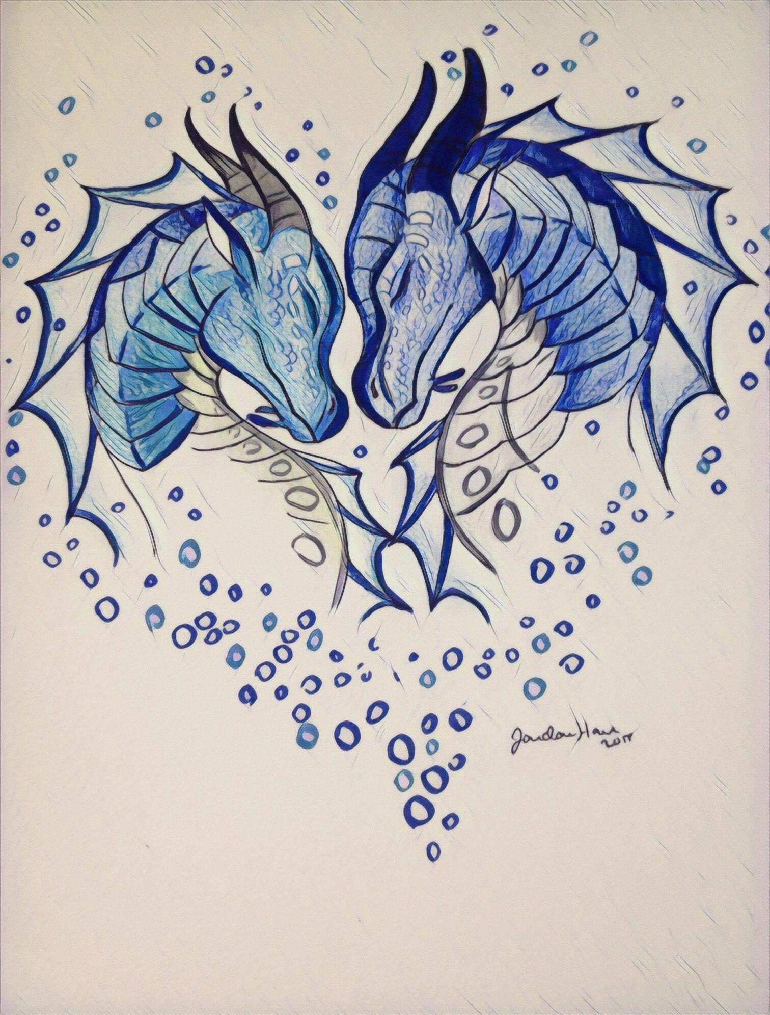 tsunami u0026 riptide wings of fire pinterest dragons drawings
