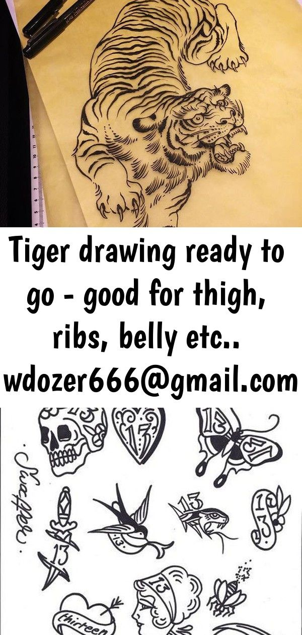 Tiger drawing ready to go  good for thigh ribs belly etc wdozer666 if you want it 9 Tiger drawing ready to go  good for thigh ribs belly etc wdozer666 if you want it From...