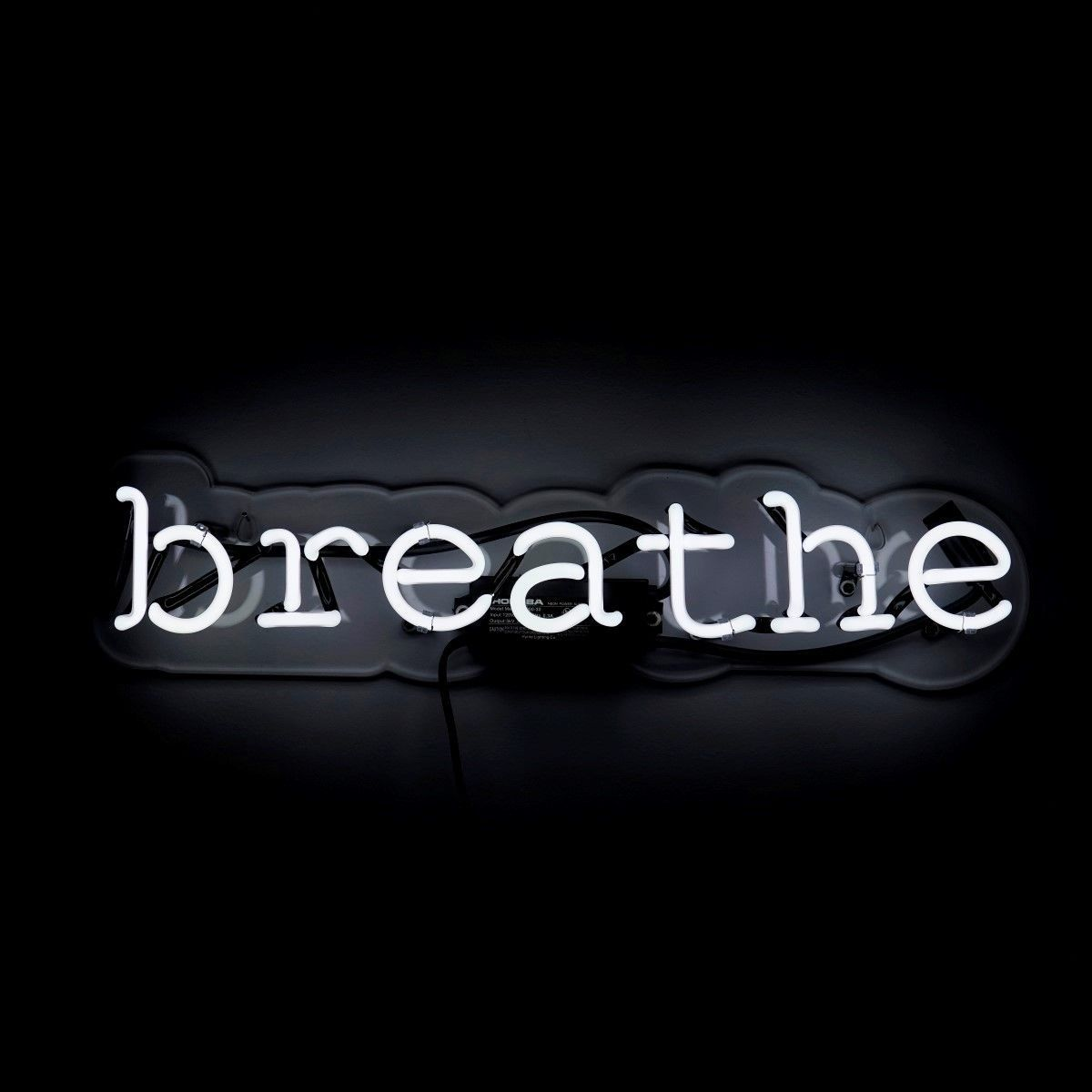 Breathe Neon Sign Black And White Picture Wall Black And White Photo Wall Black Aesthetic Wallpaper