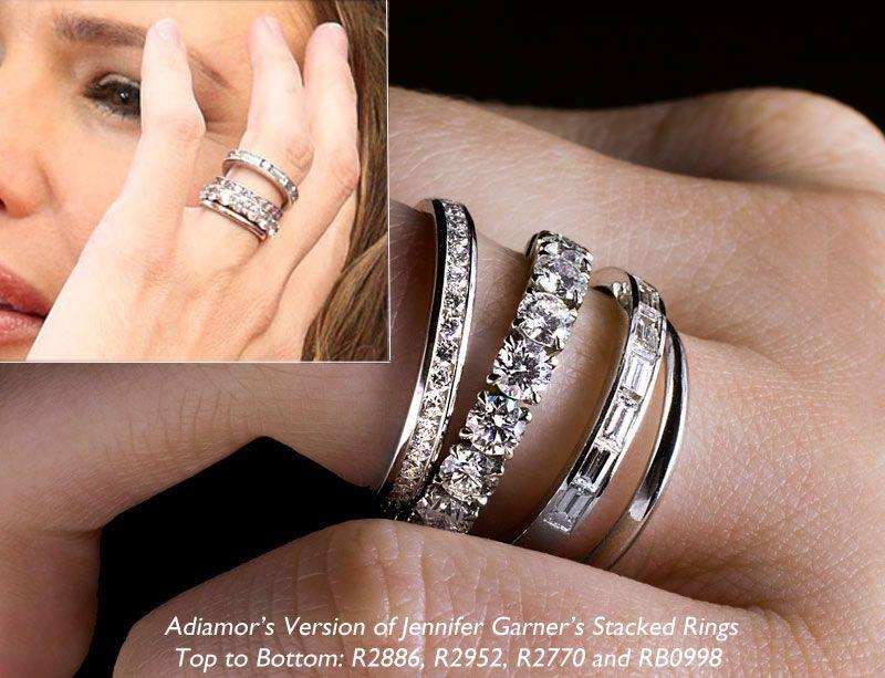 Jennifer Garner Stackable Eternity Rings