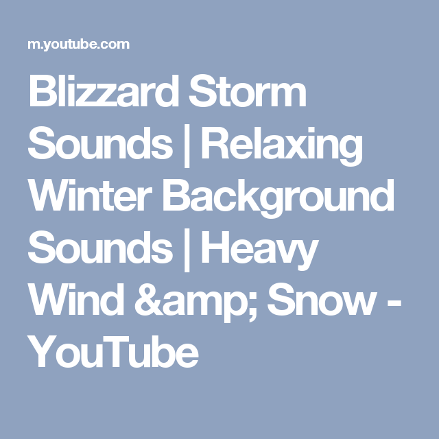 Blizzard Storm Sounds | Relaxing Winter Background Sounds