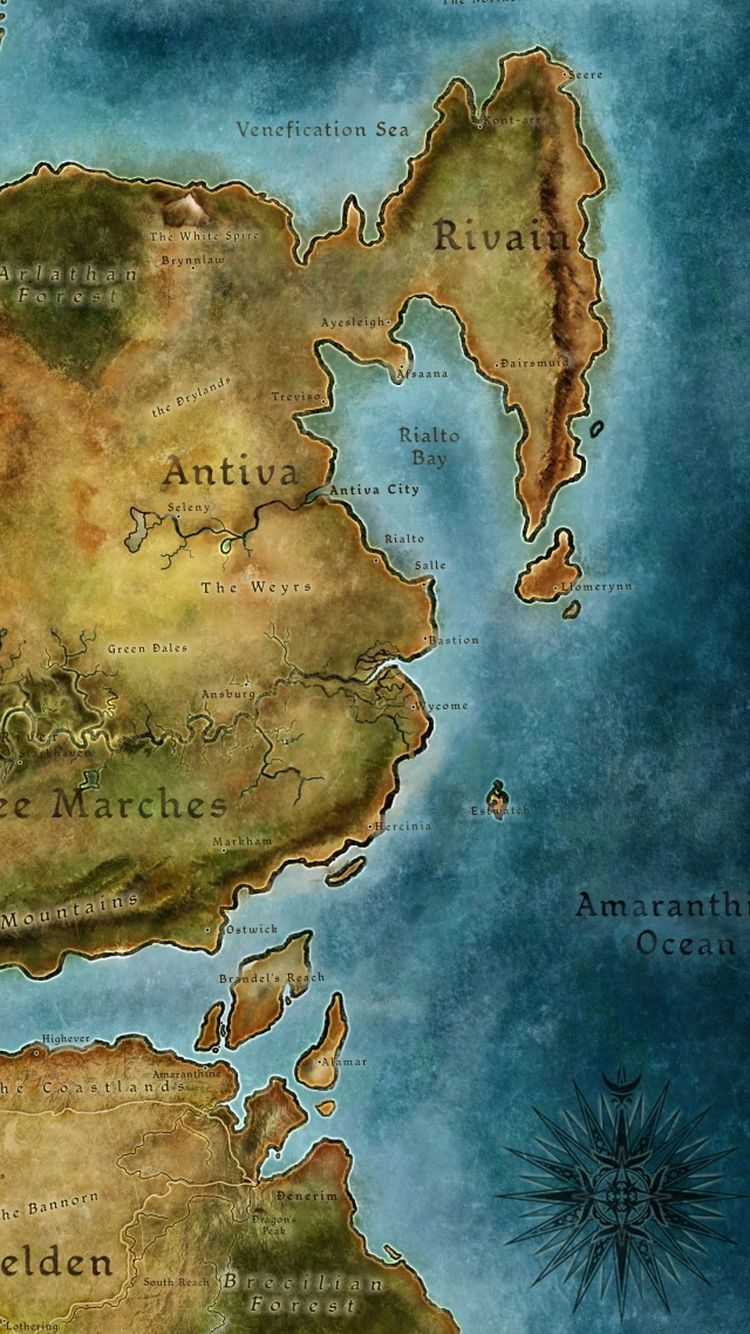 Dragon Age 2 Map iPhone 6 Wallpaper