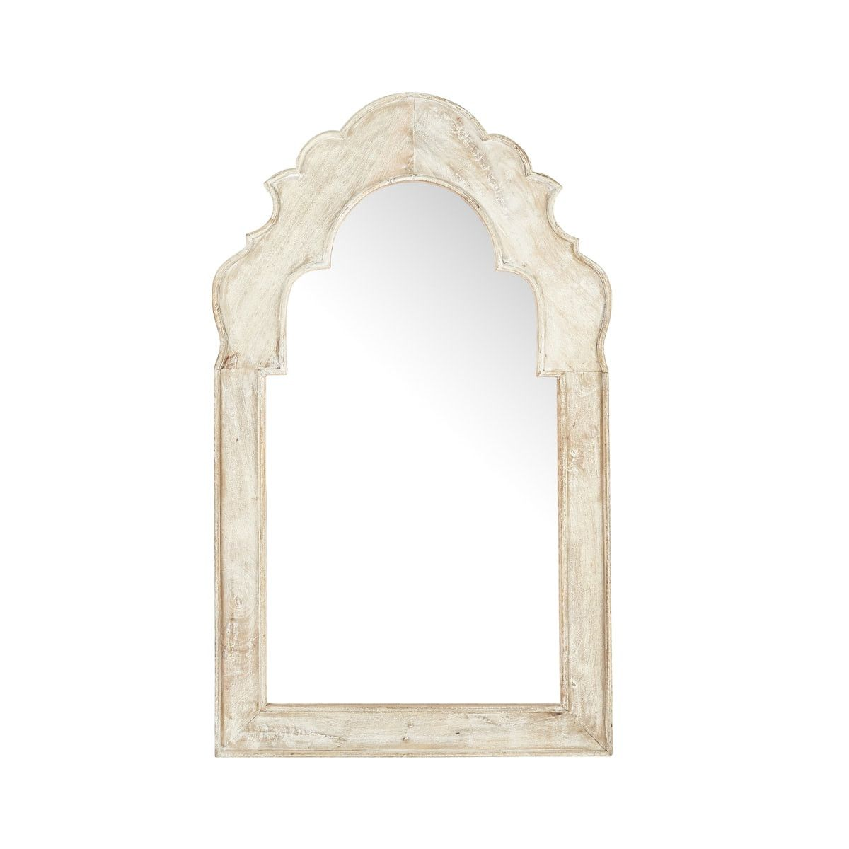 Moroccan Whitewashed Mirror Hand Carved Arched Mirror Wisteria With Images Moroccan Mirror Mirror Colorful Interiors