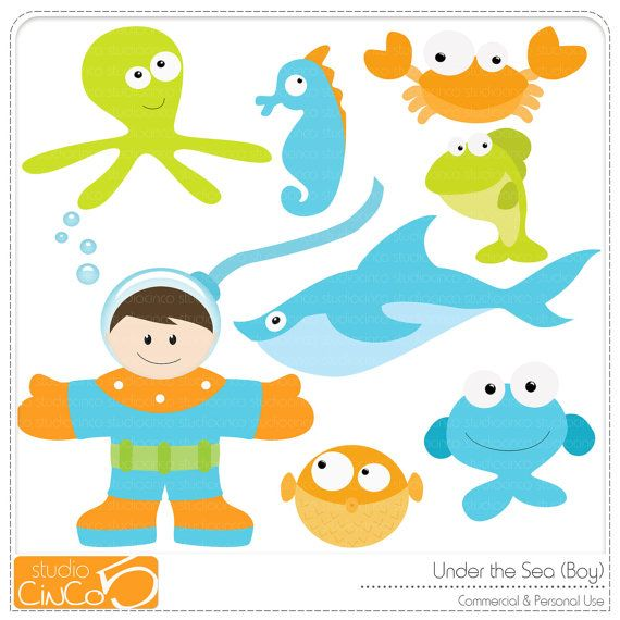 under the sea boy digital clip art commercial use clipart rh pinterest ca free commercial use christmas clipart copyright free for commercial use clipart