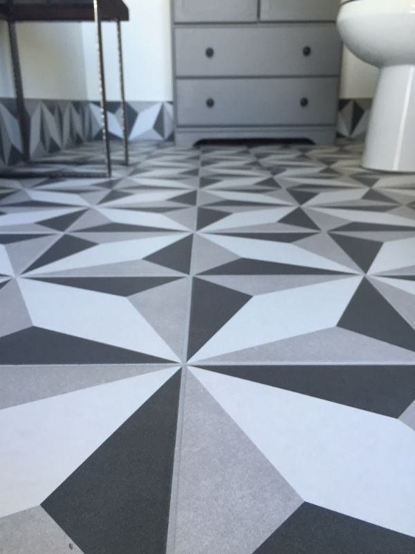 Bathroom reno #tile #flooring #bathroom #patternedtile Home Depot ...