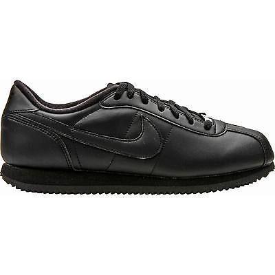 Nike Cortez Basic Leather 06 Mens 316418 018 Black Running Shoes Size 7 5