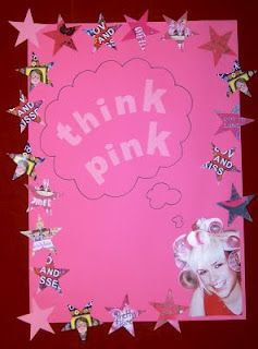 Library Displays: Think Pink. Great for Think Pink night with the City. Could also coordinate with a Pinkalicious display.