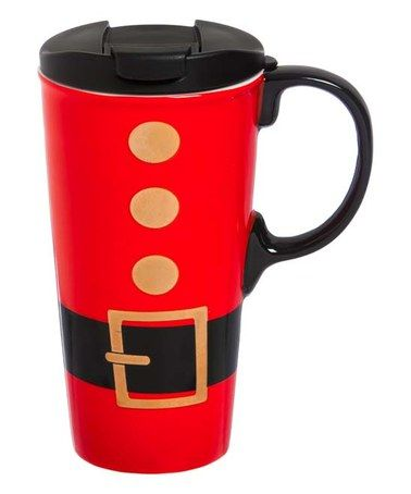 This Ceramic 17 Oz Santa Belt Travel Mug is perfect zulilyfinds