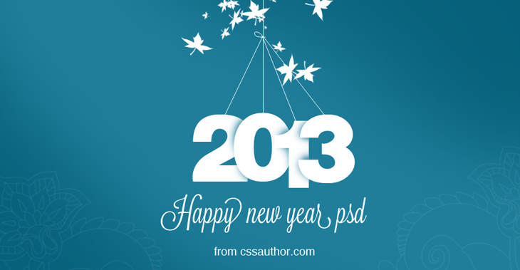 New Year Greeting Card Psd Free Download  CssauthorCom