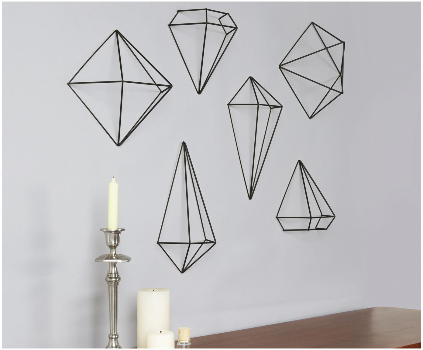AFFILIATELINK | Wand Objekte Set Prisma, 6 Tlg., Skandinavisch,