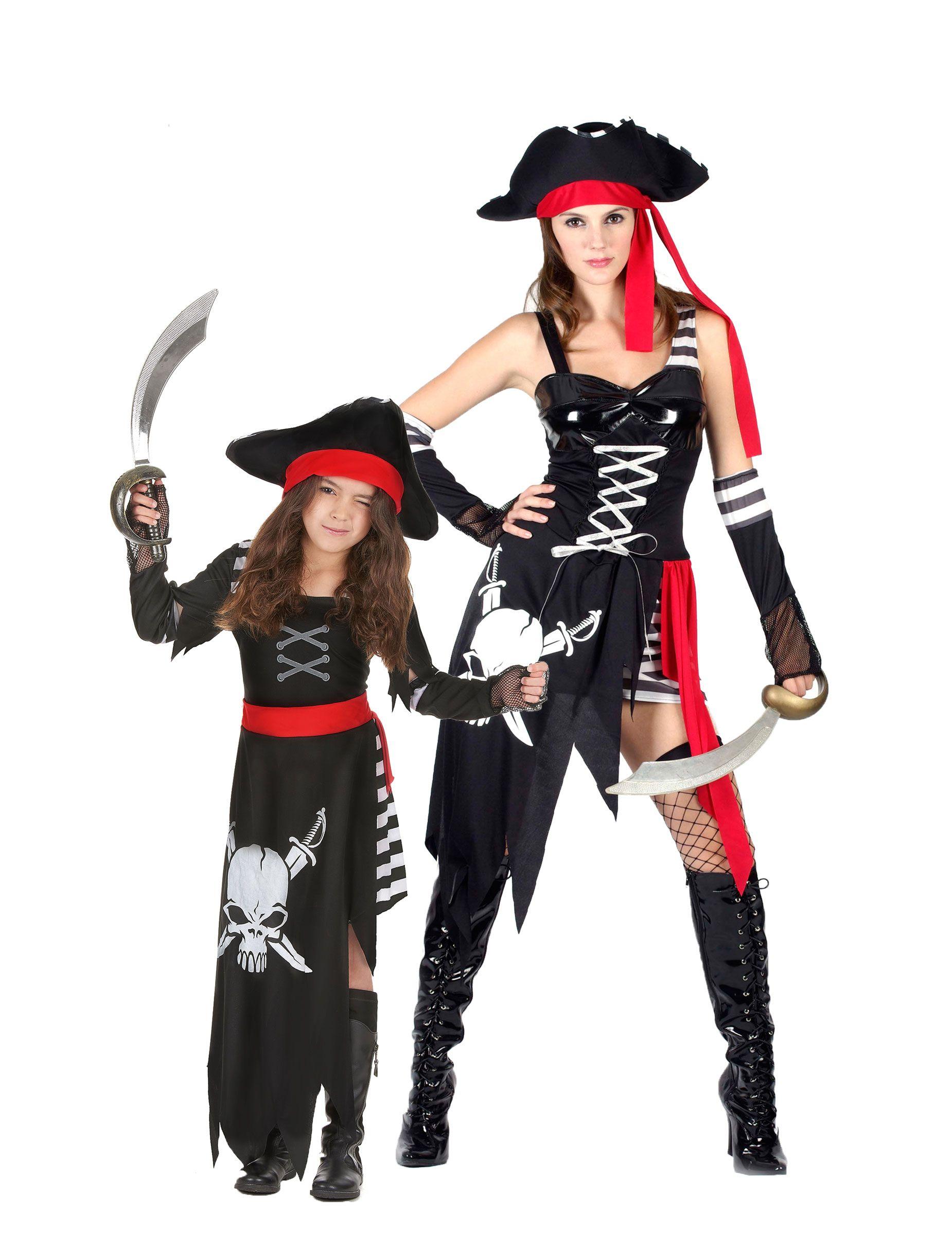 Vestiti Halloween.Costume Coppia Pirata Madre E Figlia Nel 2019 Halloween Costumi