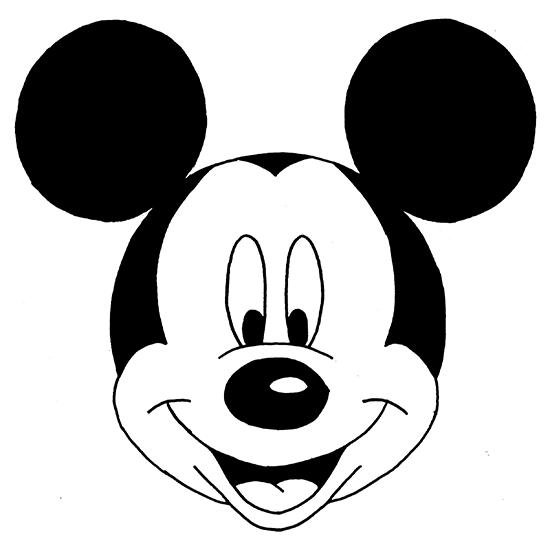 Mickey Mouse Face From 3 Ways to Draw Mickey Mouse Step by Step Wikihow