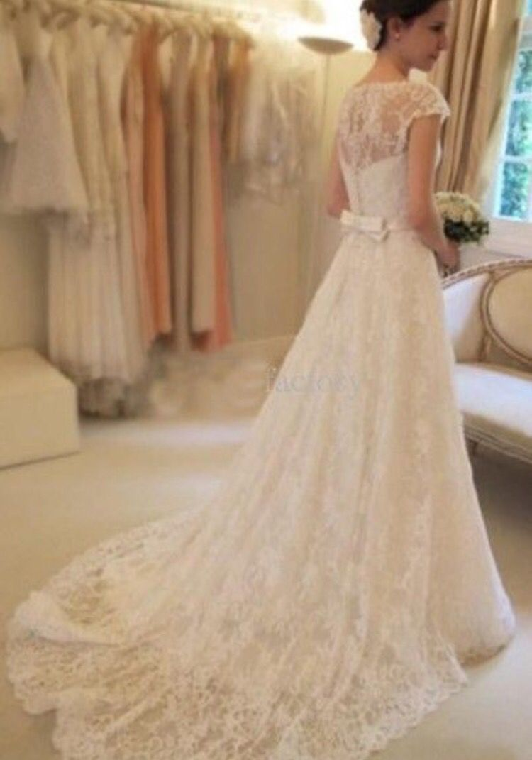 Short lace wedding dress with sleeves  My dream dress  Wedding  Pinterest  Dream dress and Wedding
