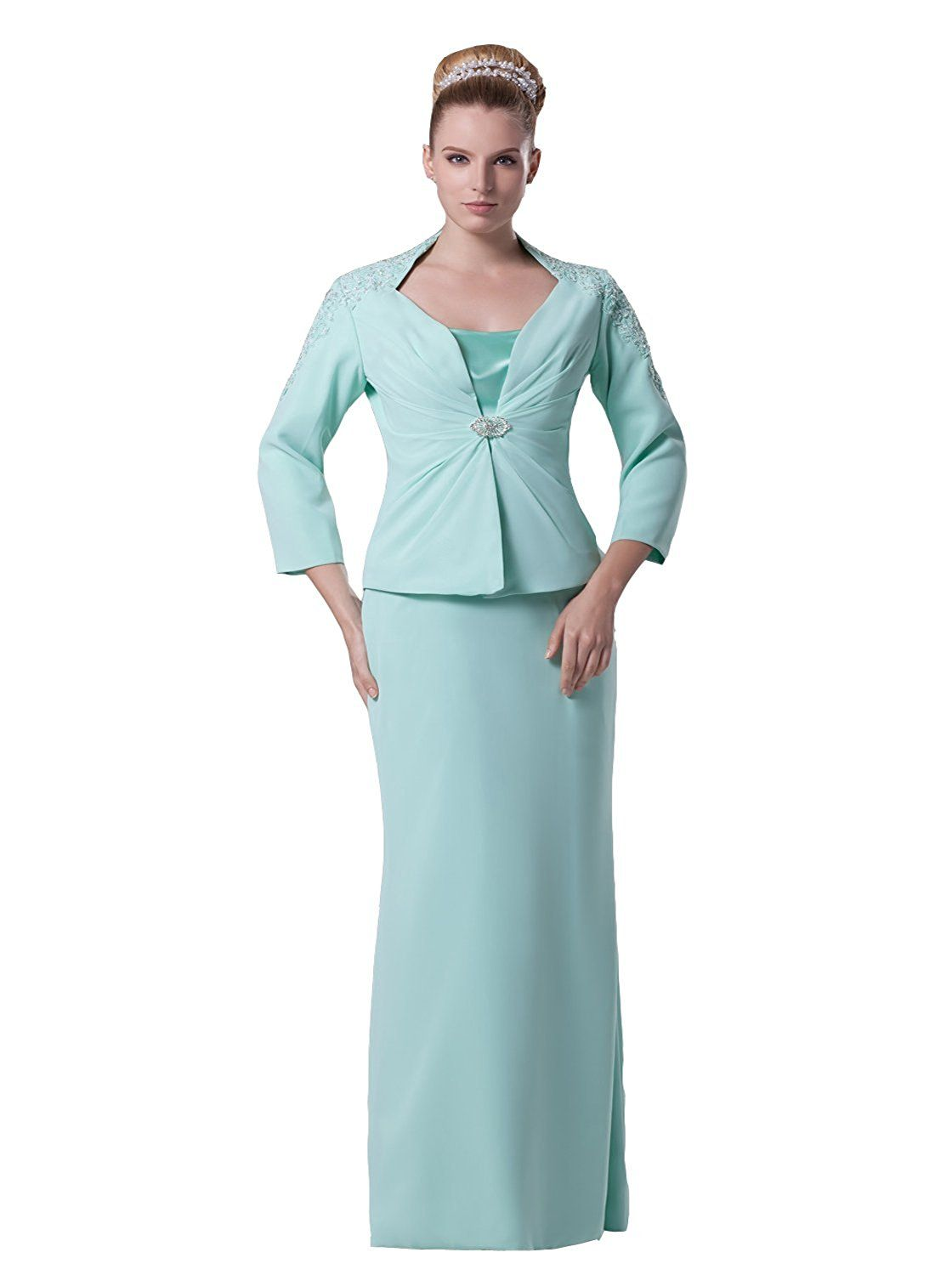 Angel formal dresses womenus applique long sleves mother of the