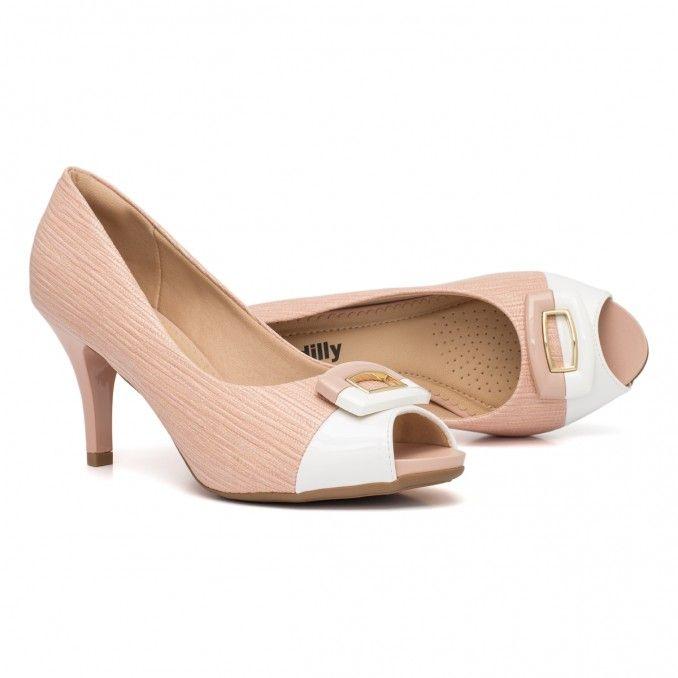 e47d5d9740 Sapato Peep Toe Salto Alto