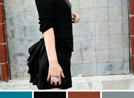 Black, Blue & Brick
