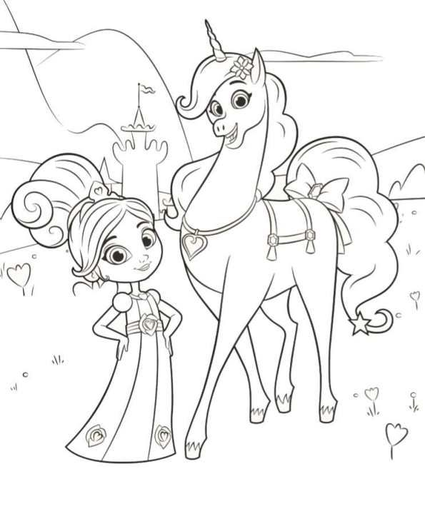 Coloring Page Nella The Princess Knight Nella Trinket Princess