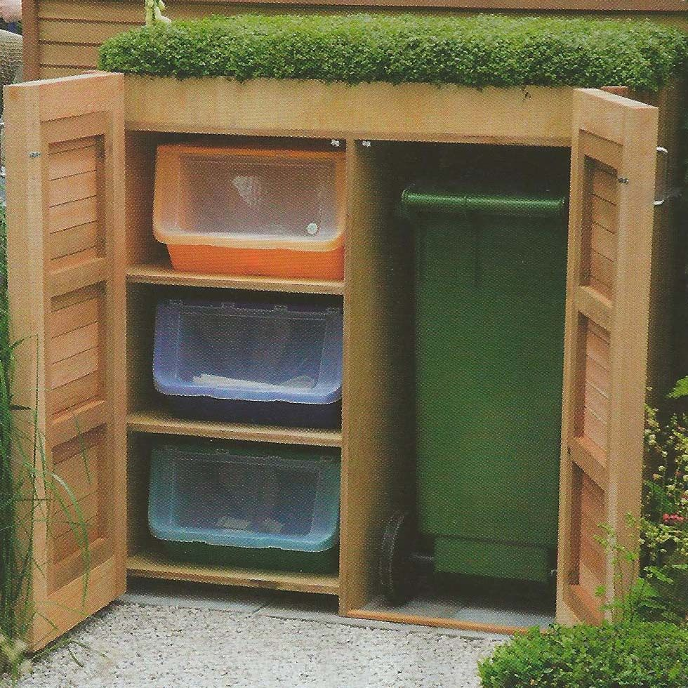 garden storage with green roof garden 39 s illustrated. Black Bedroom Furniture Sets. Home Design Ideas