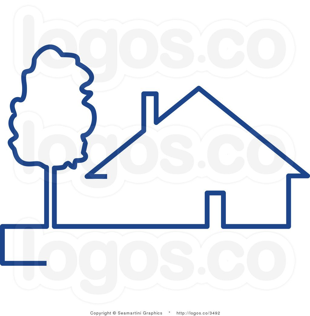 House Logodesign Graphic: House And Tree Logo Logo Clip Art