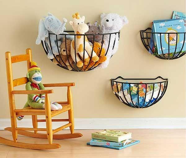 Hanging Basket Stuffed Toy Storage