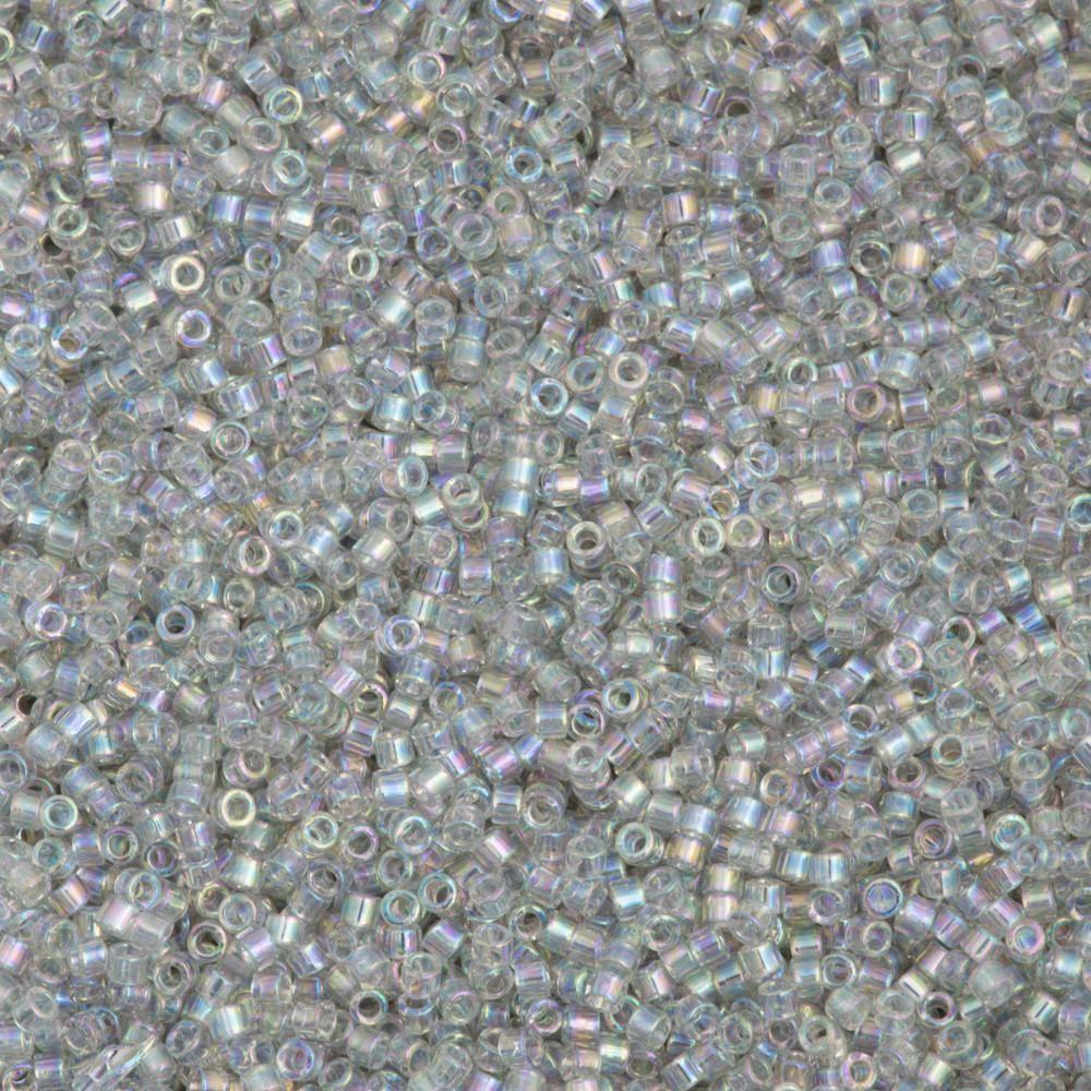 #JKO009 15//0 Transparent Chinchilla Grey AB Japanese Seed Bead 20 gm