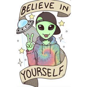 Alien Outfitters - Mars On Mars Believer Sticker  3ba6c637f1446