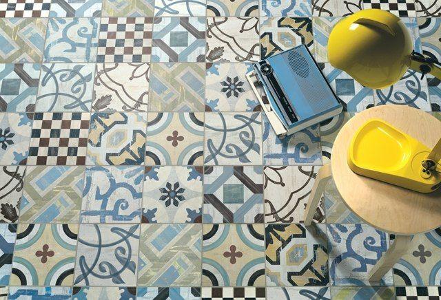 revêtement de sol en carreaux de ciment à motifs vintage
