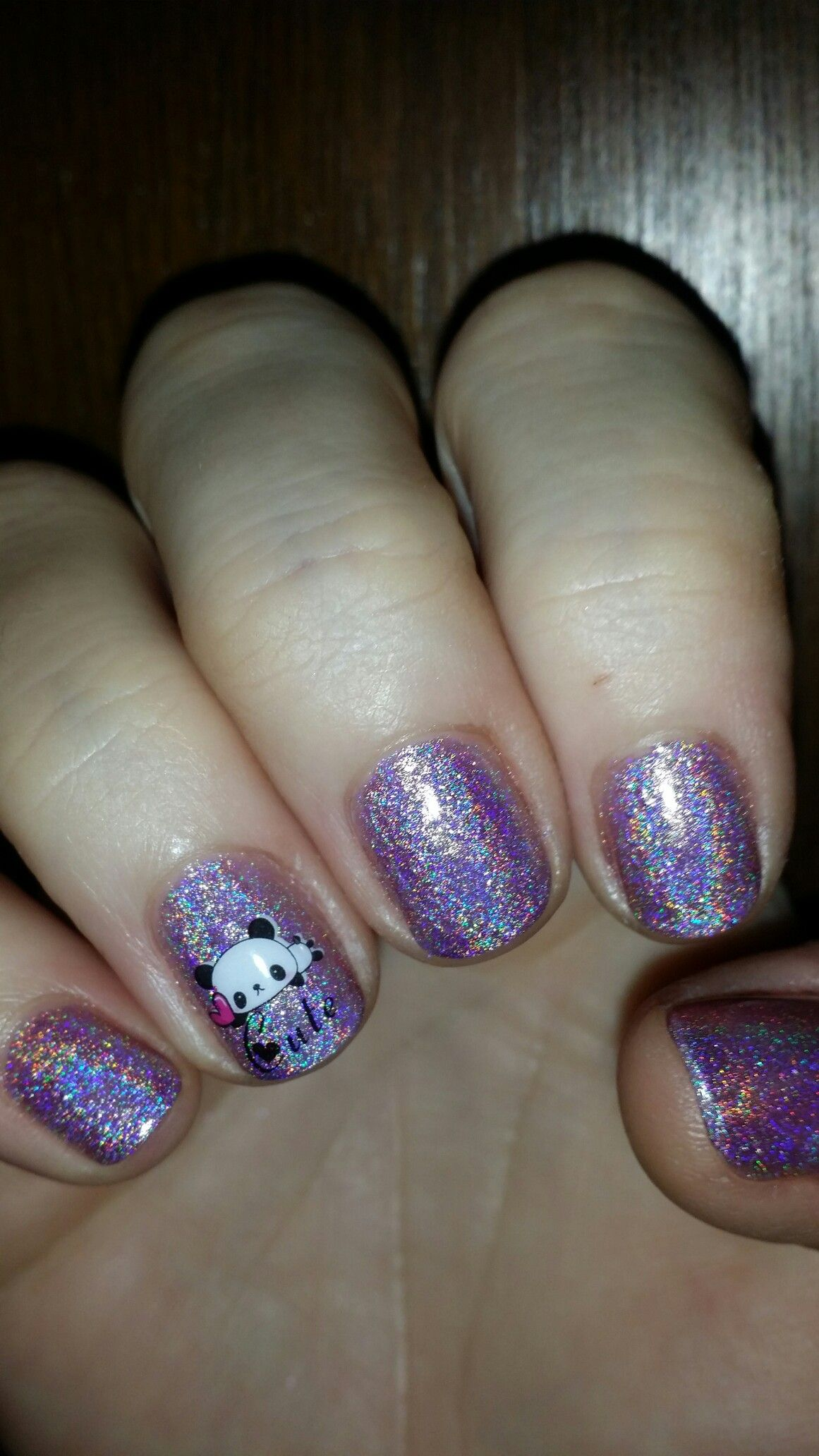 Valentine S Day Panda Nails With Images