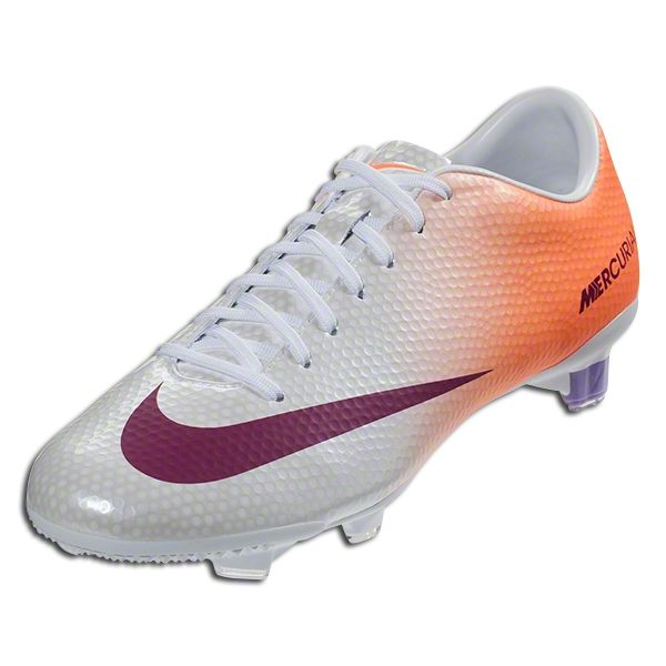 Nike Women S Mercurial Veloce Fg White Atomic Orange Atomic Violet Bright Magenta Firm Ground Soccer Shoes World Soccer Shop Soccer Cleats Soccer Shoes