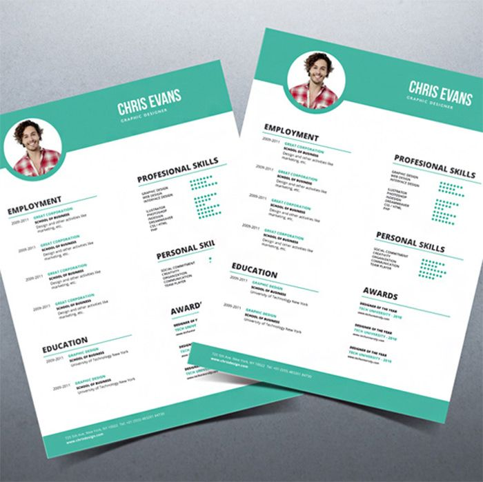 Beautiful Resume Templates 30 Free & Beautiful Resume Templates To Download  Template