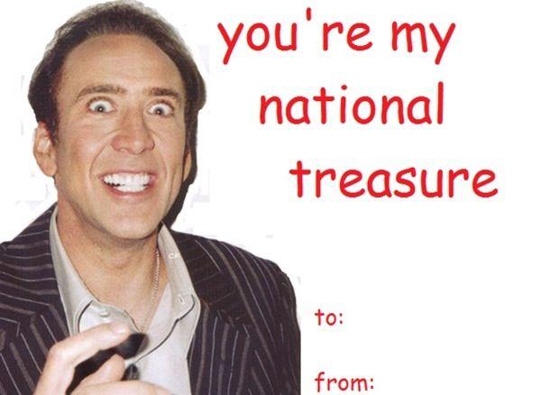 Nicholas Cage Valentine Winnnn Cheesy Valentines Pinterest