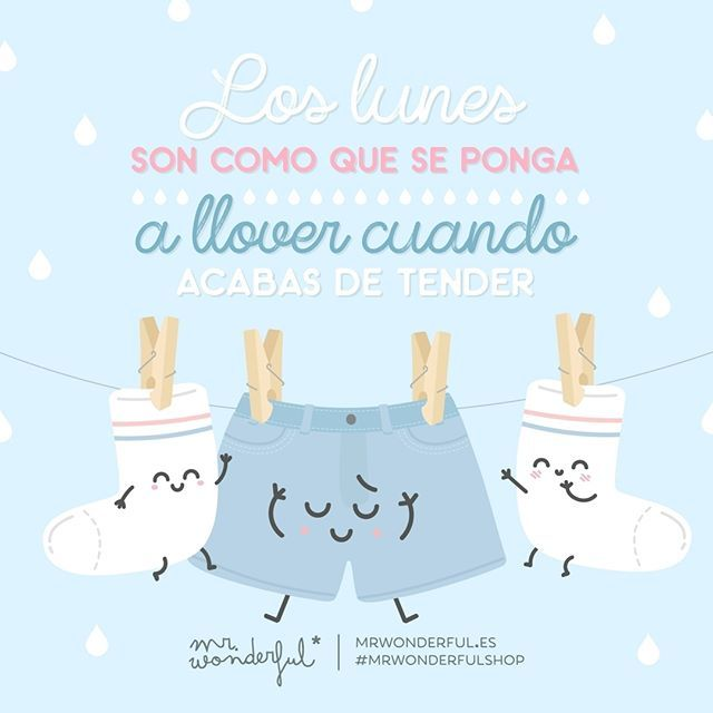 Aunque los lunes sean un poco aguafiestas, nada puede con un solete como tú. #mrwonderfulshop #felizlunes Mondays are like when it starts to rain just after you have finished hanging out the washing. Even if Monday rains on your parade, there is no way it can hold you back, sunshine.
