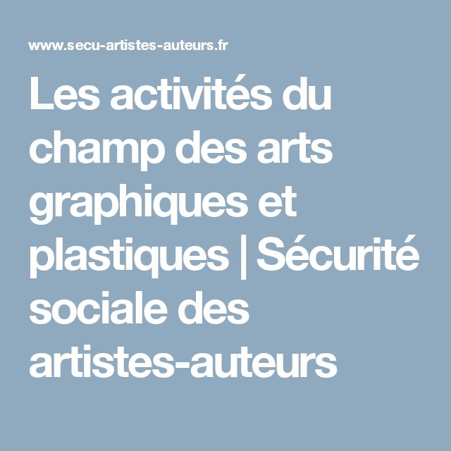 Les Activites Du Champ Des Arts Graphiques Et Plastiques Securite Sociale Des Artistes Auteurs Art Graphique Graphiques Artiste