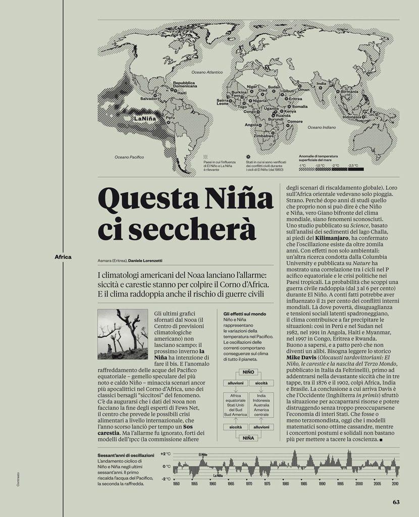 Francesco Franchi. Equilibrio tra immagini e testo. La struttura e la composizione ricordano molto quelle di un giornale/quotidiano.