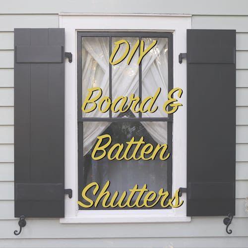 Diy Board And Batten Shutters