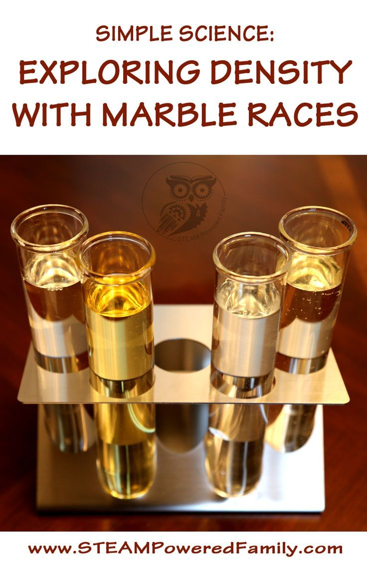 Simple Science: Exploring Density with Marble Races. A great way to see the effect of liquid density with stuff you have in your house right now.