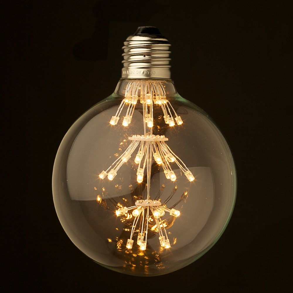 Dimmable 3 Watt Vintage Led E27 Clear 95mm Round Bulb Bombillas Led Bombillas Led