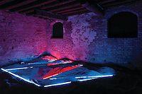 """Laddie John Dill/Art Image LA   888-858-7107  """"Light Sentence""""  Argon  Venice Biennale 2011  Palazzo Contarini degli Scrigni"""