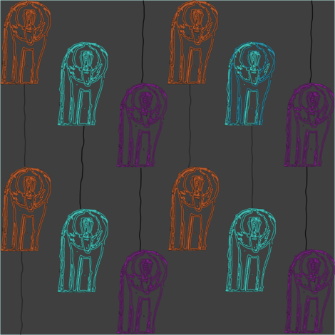 #SFDesignADay Baboon Neon Signs fabric by sizemode on Spoonflower - custom fabric