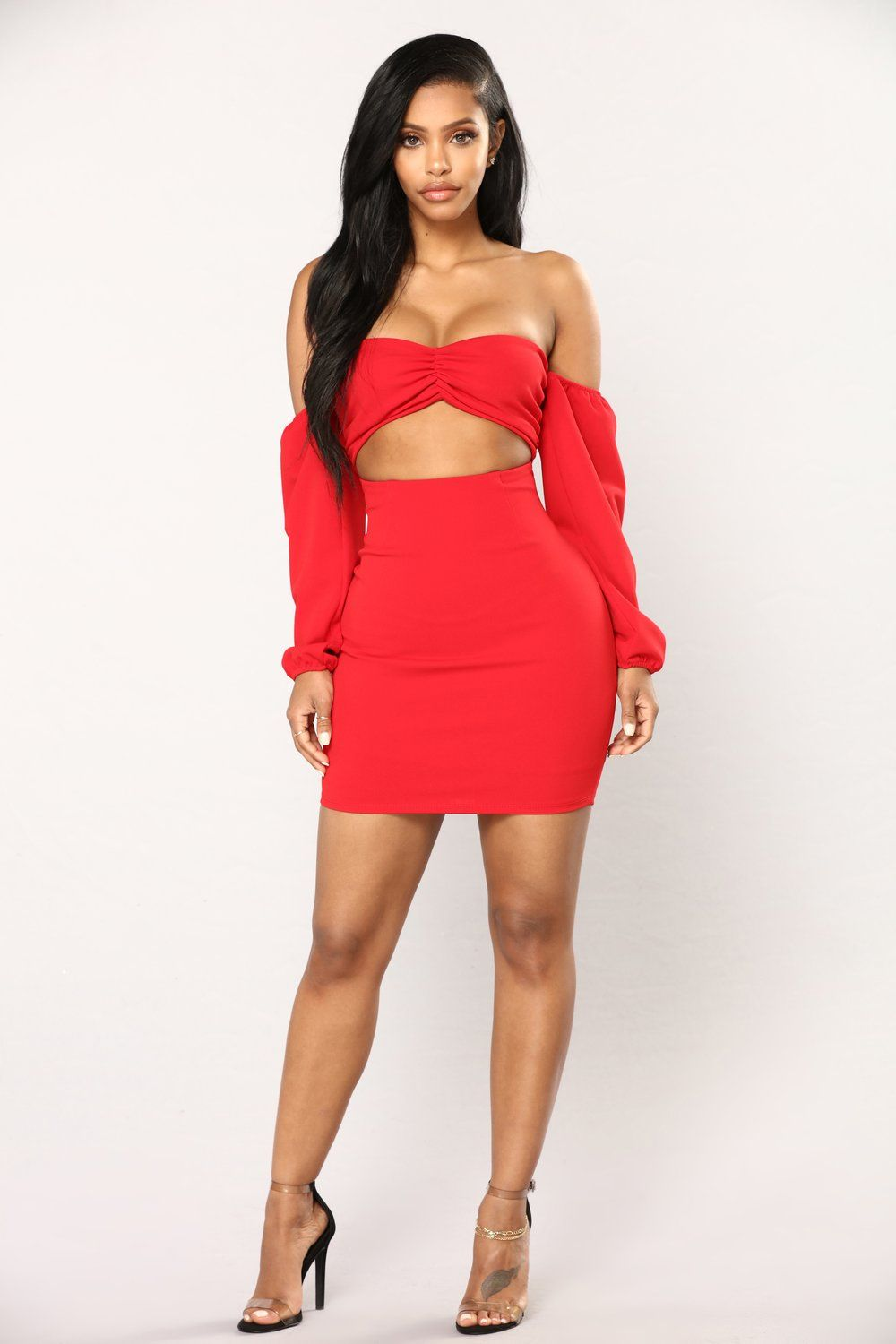 8627bd2abfcb Say My Name Off The Shoulder Dress - Red in 2019 | Fashion Nova ...