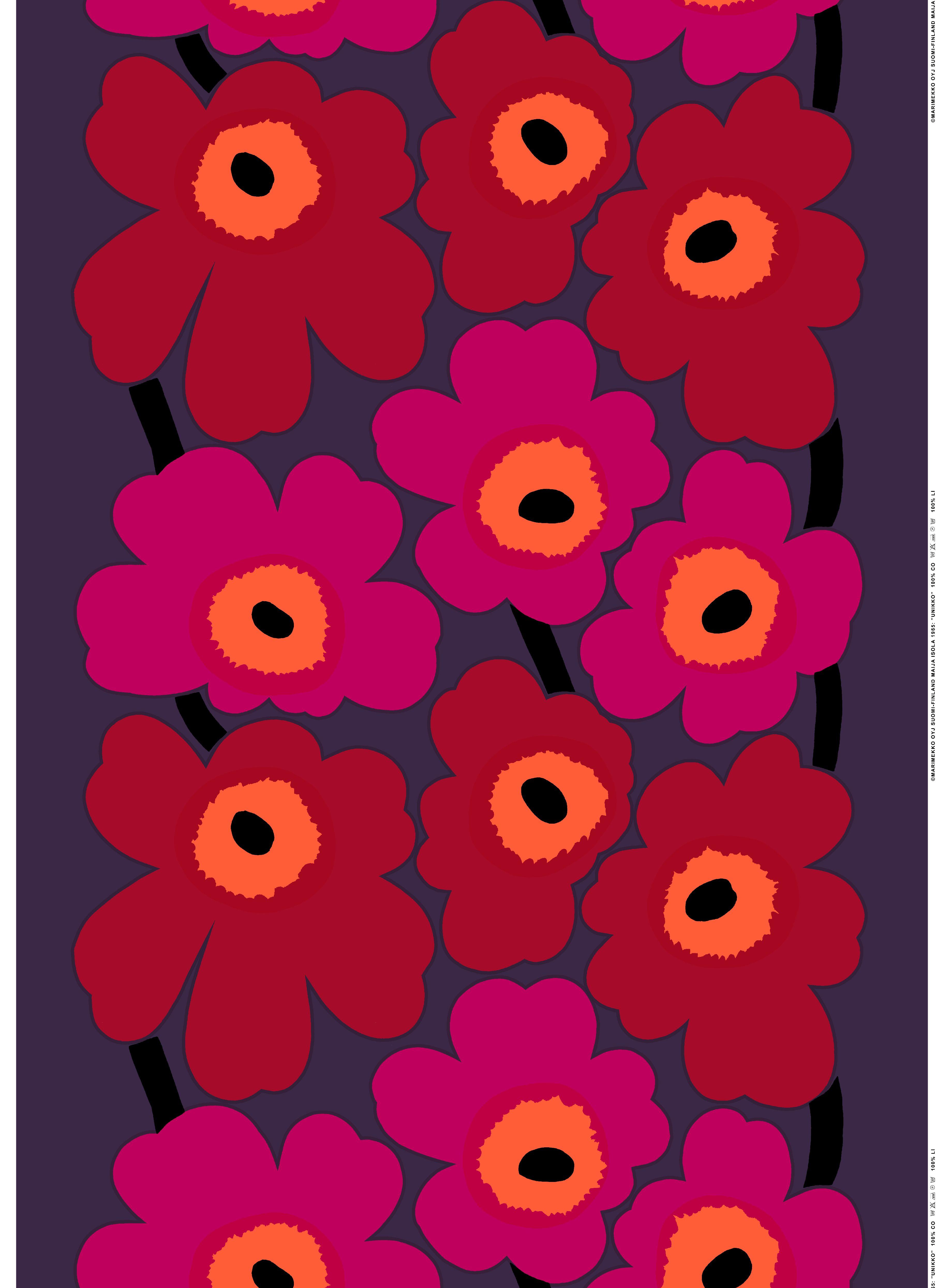 unikko tissus marimekko marimekko pinterest bricolage d co affiche vintage et berb res. Black Bedroom Furniture Sets. Home Design Ideas