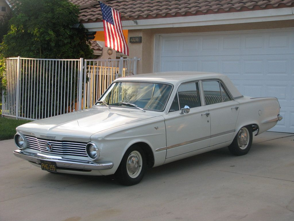 1964 Plymouth Valiant, this little beauty replaced the Ford Fairlane, after  I plugged in one little wire and burnt all the wiring out from under the  dash.