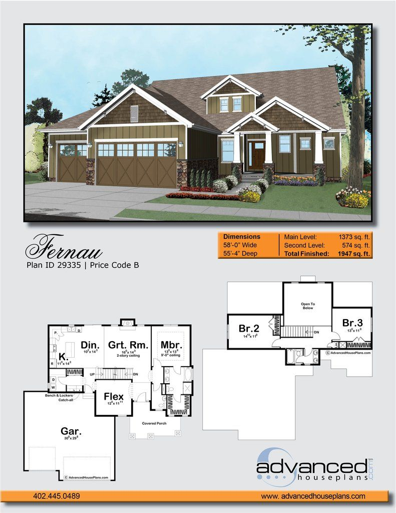 1 5 Story Craftsman House Plan Fernau House Plans Advanced House Plans Craftsman House Plan
