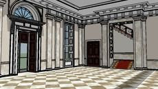 3D Model of White House Entrance Hall