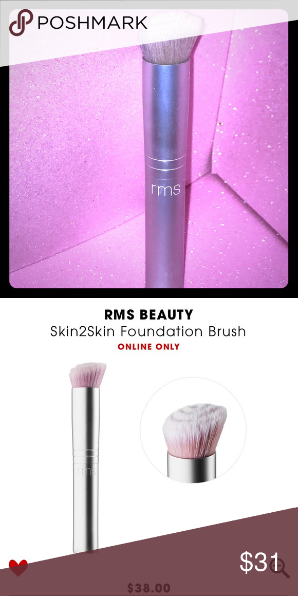 RMS BEAUTY Skin2Skin Foundation Makeup Brush NWT (With