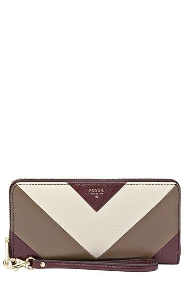 Fossil 'Sydney Patchwork' Leather Clutch Wallet available at #Nordstrom