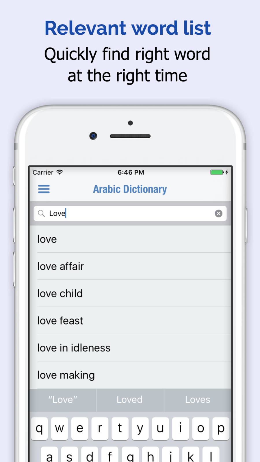 Arabic Dictionary iosEducationappapps Educational