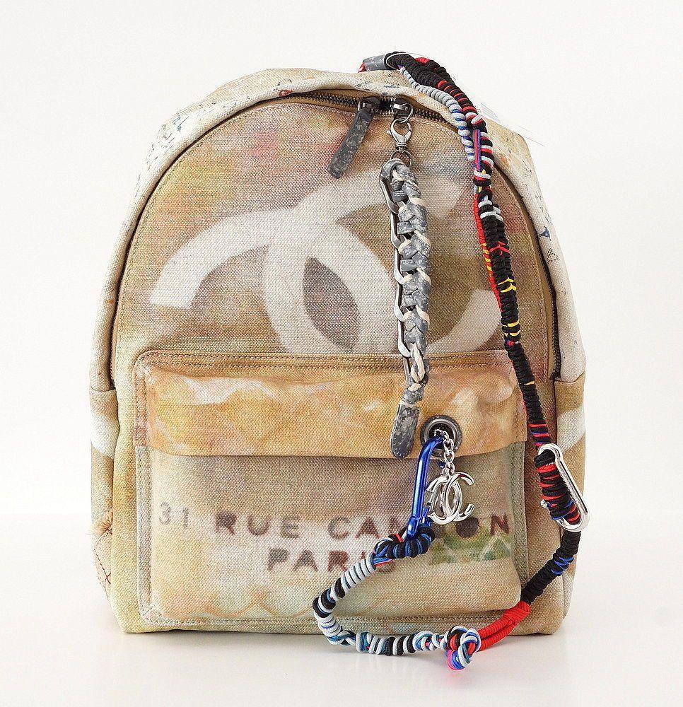 Chanel Bag Limited Edition Graffiti Art Runway Backpack Nwt Chanel Bag Bags Purses And Bags