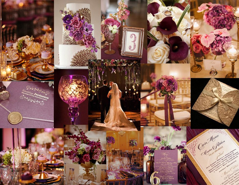 Plum And Champagne Wedding Colors Gold Or Silver